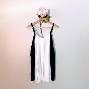 Bebe black and white shift dress